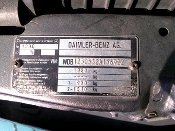 Code vin mercedes id e d 39 image de voiture for Mercedes benz vin number