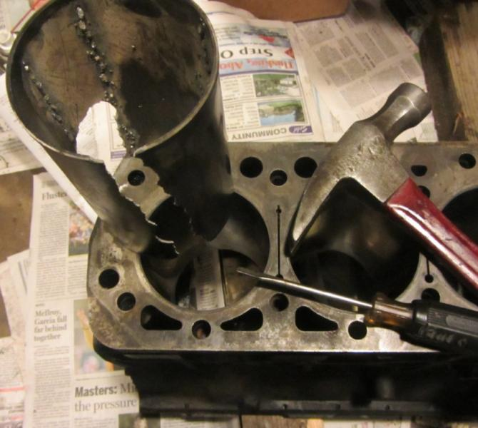 tool needed, cylinder liner removal tool for the 5 cylinder