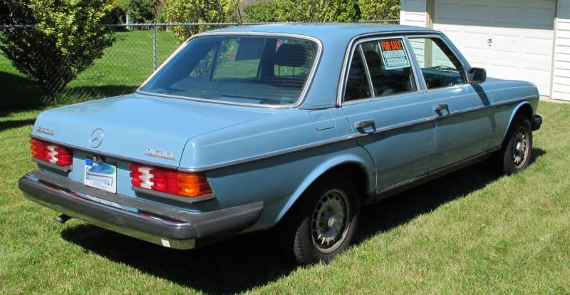 Sold 1980 Mercedes W123 240d China Blue Peachparts
