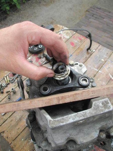 240D manual transmission rear seal replacement