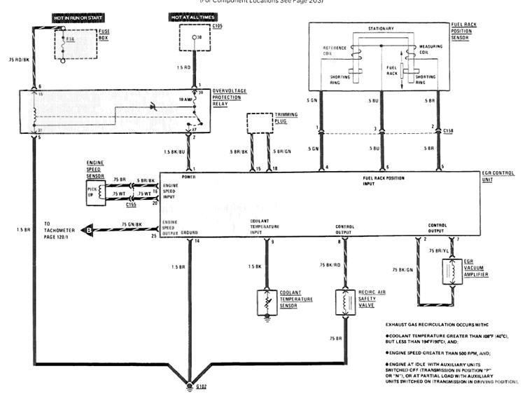 Quick Fix  1985 W123 Tach  U0026 A  C After Egr Failure