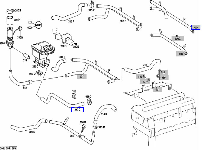 mercedes w126 engine diagram html