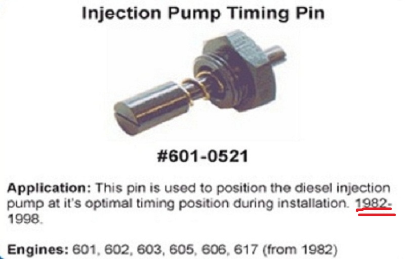 Amateur Adventures: OM617 Injector Pump replacement