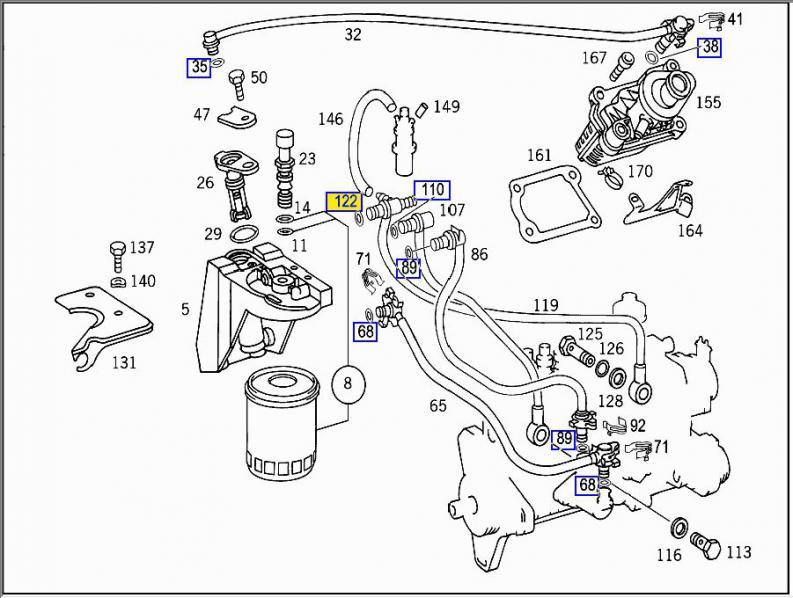 95 e300d fuel lines peachparts mercedes shopforum fuel water test kit 95 e300d fuel lines om606 fuel system o rings jpg