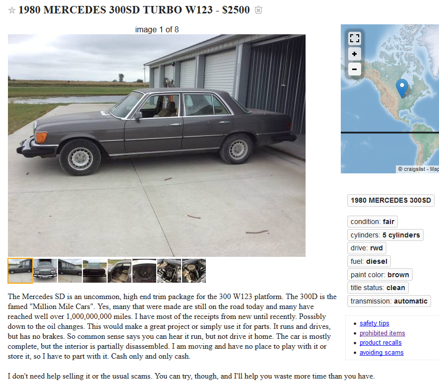 Craigslist Crackhead Or No Page 2 Peachparts Mercedes Benz Forum