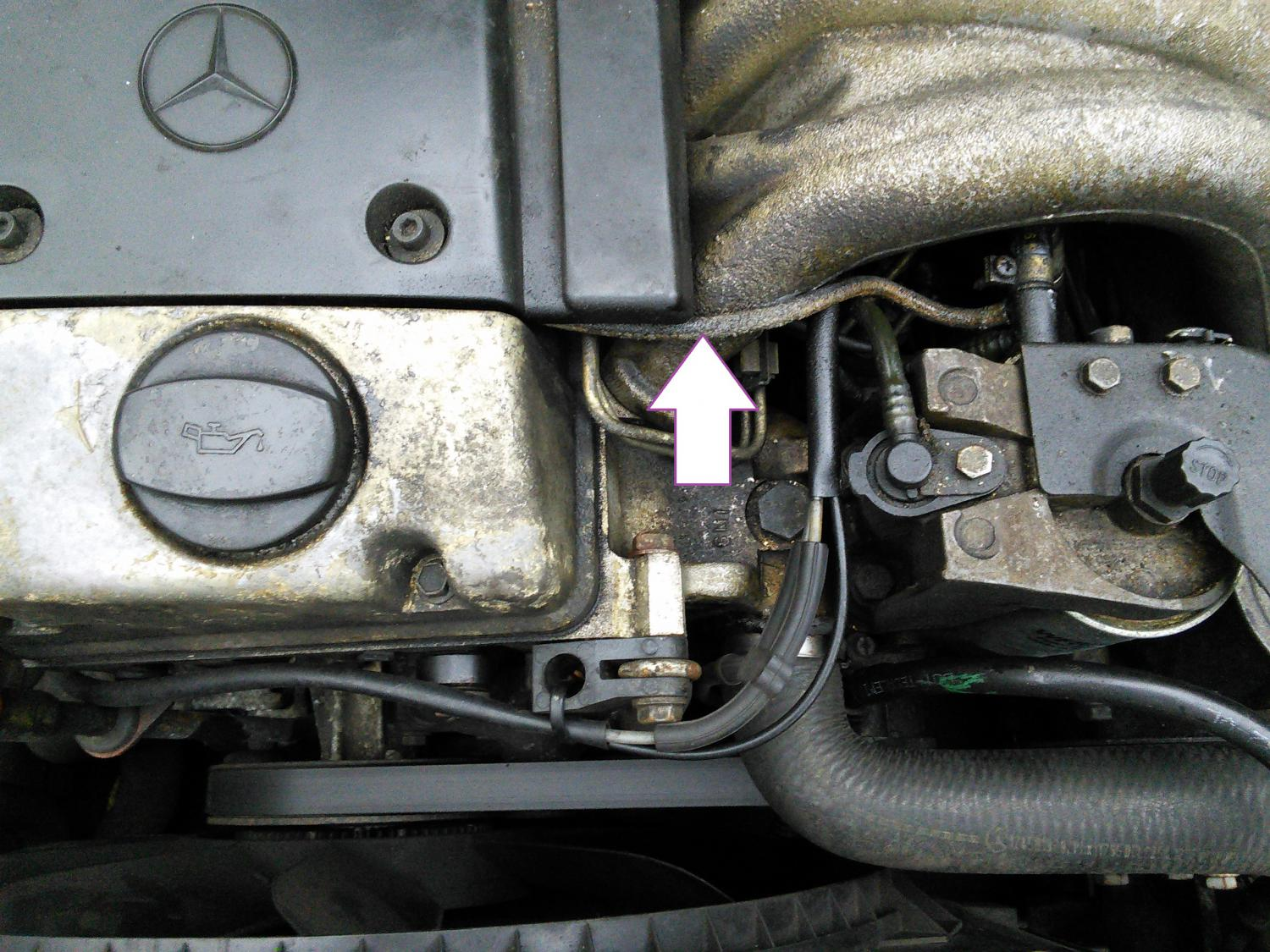 124 E300d Re Soldered Ovp Now Rough Running Peachparts Mercedes Wiring Diagram Leak 1