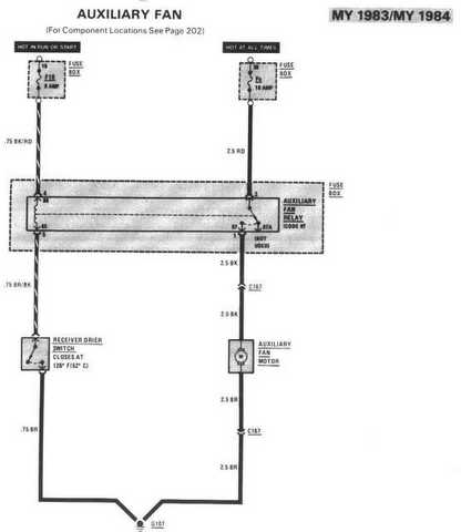 A/C and Aux. fan question? - PeachParts Mercedes-Benz Forum Auxiliary Fan Wiring Diagram on electric fan diagram, headlight adjustment diagram, fuse diagram, fan assembly diagram, hunter fan diagram, fan coil diagram, parts diagram, ac condenser diagram, fan capacitor diagram, wire diagram, fan motor diagram, fan clutch diagram, radiator fan diagram, fan relay diagram, ceiling fan diagram,