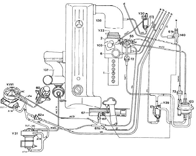 Mercedes       300d    vacuum diagrams