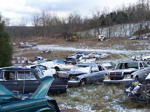 Salvage Yard To Crush 1000 Benz Peachparts Mercedes