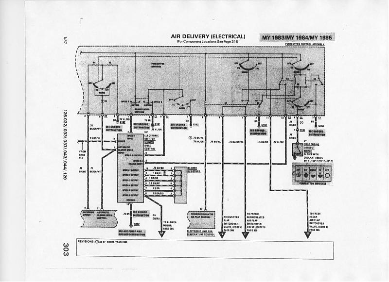 81 mercedes 300sd fuse box diagram