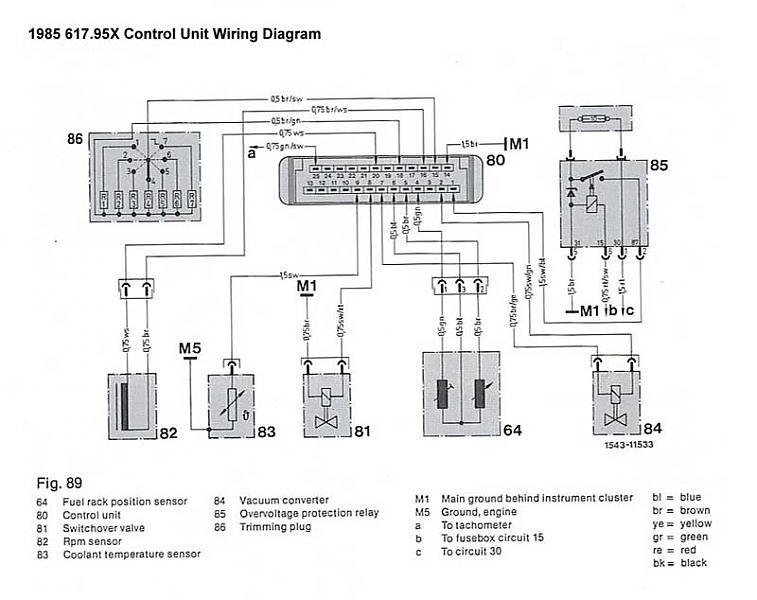 184219 1985 300d Ca Emissions Tachometer Repair 2 on bmw abs wiring diagram