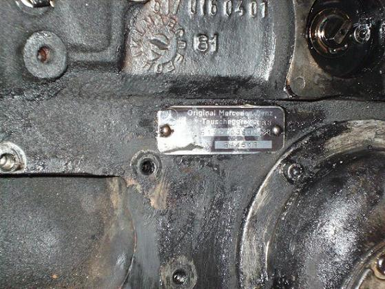 D Engine Code Location Bottom Code Edit on Mercedes Engine Serial Number Location