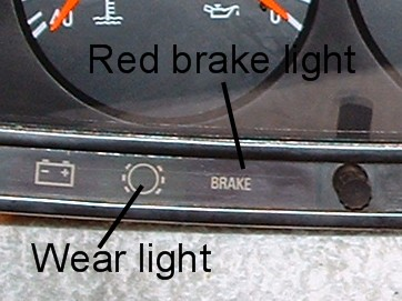 W123 dash brake warning lights a review  PeachParts Mercedes
