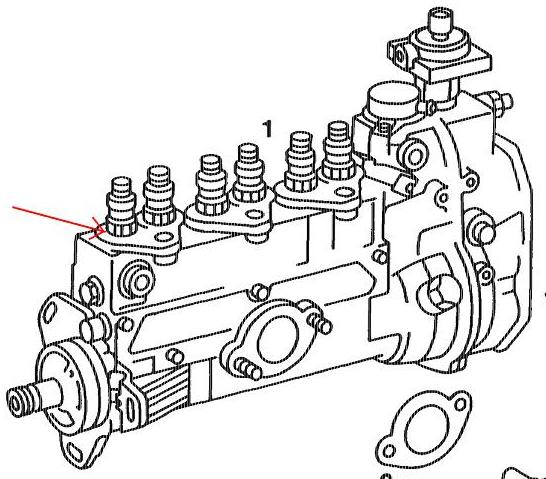 Leaking Injector Pump At Fuel Line To Injector Om603