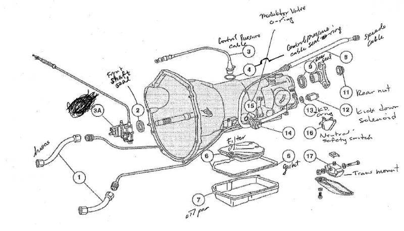 1998 honda cr v transmission diagram