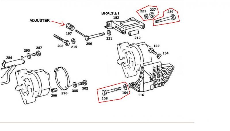 how to tighten alternator belt? ('79 300d) - peachparts ... 1977 mercedes 300d wiring diagram mercedes 300d alternator wiring