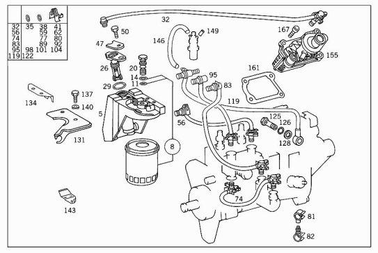 1995 mercedes diesel fuel leak