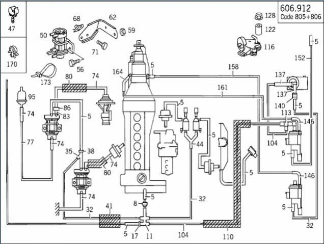 mercedes benz 260e engine diagram