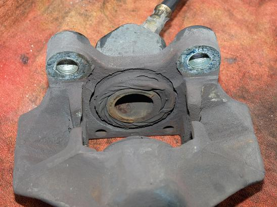 Images Of Bad Calipers : Rear brake caliper rebuilding write up peachparts