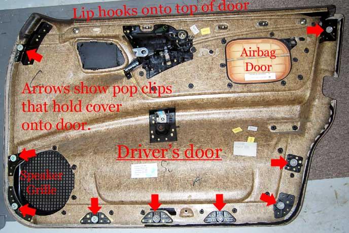 D W Door Panel Removal Door on 1997 Hyundai Accent Parts