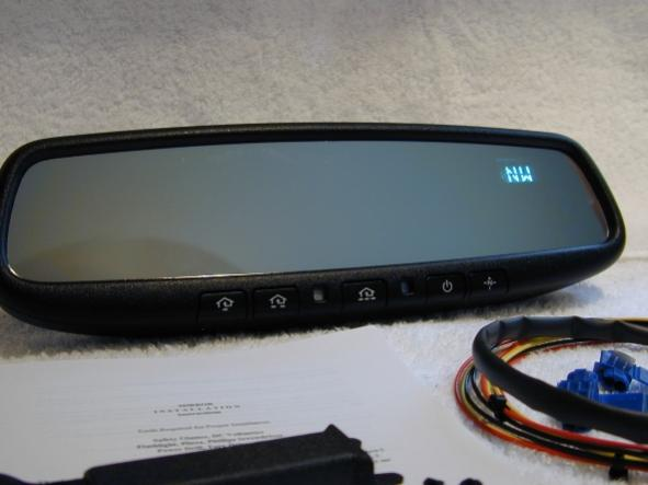 Homelink and compass rear view mirror peachparts for Mercedes benz homelink
