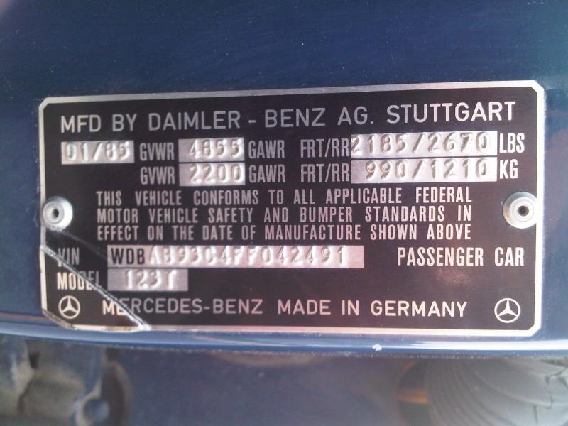 Dealer can 39 t find vin peachparts mercedes shopforum for Mercedes benz parts by vin number