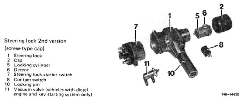 1983 mercedes parts diagram