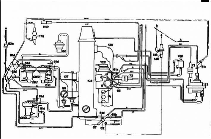 1985 mercedes 300d vacuum diagram