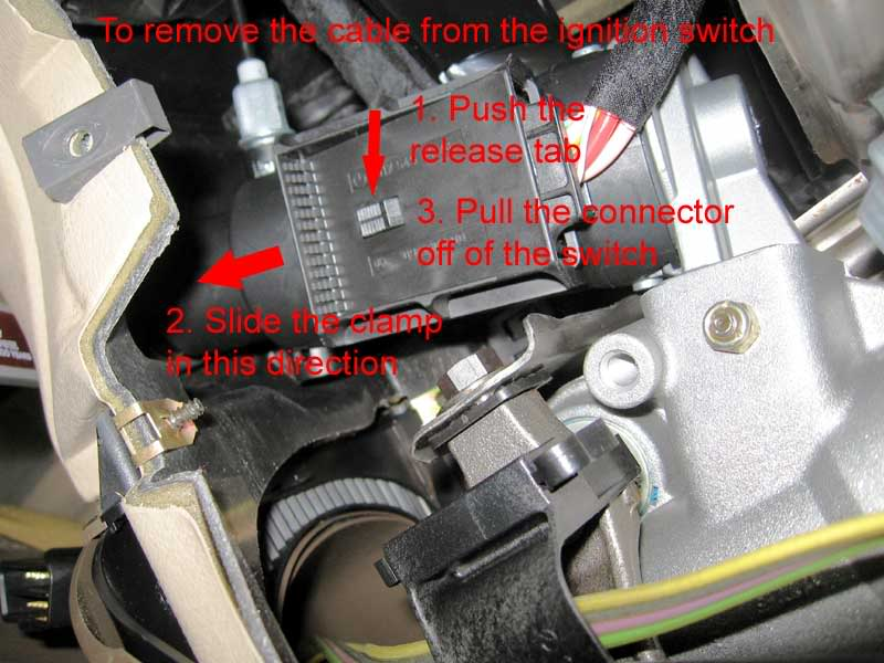 Service manual how to remove ignition actuator 1999 for Mercedes benz ignition key troubleshooting