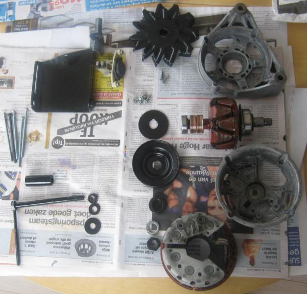 Refreshing the alternator on an OM617 PeachParts Mercedes ShopForum
