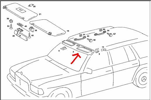 windshield header trim panel removal