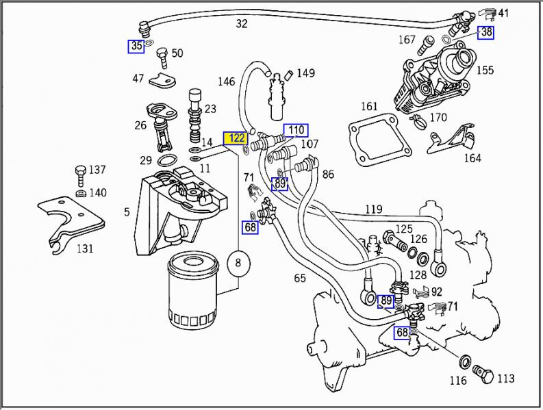 mercedes and 300 d and fuel system