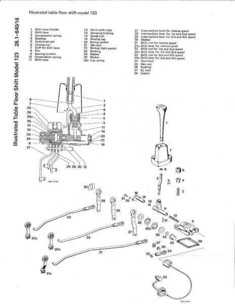 mercedes w123 manual gearbox transmission