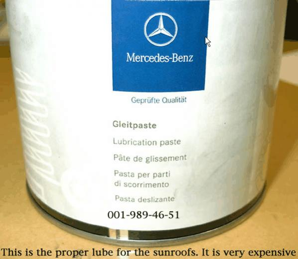 My sunroof moves at glacial speed - PeachParts Mercedes-Benz Forum