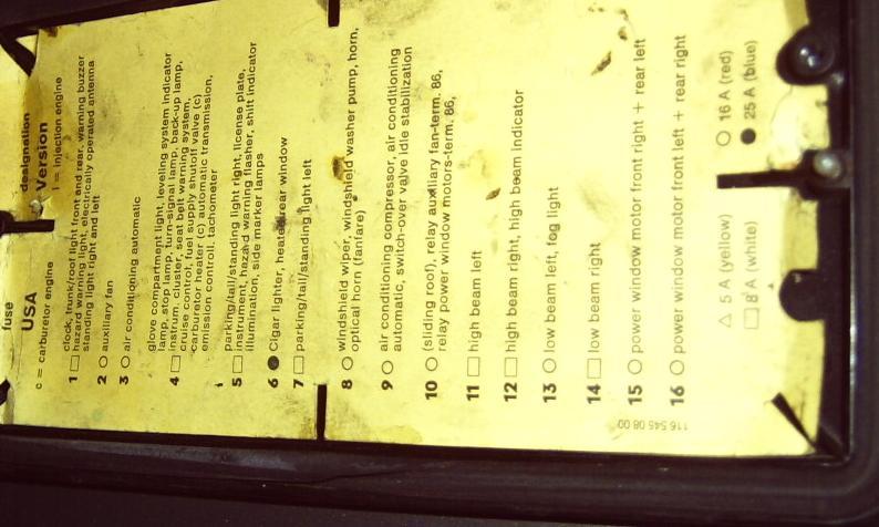 D Fuse Cover Fuse Position List W Fuse Box Lid Iusdhfuiivuui