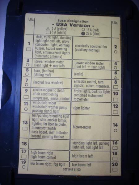 fuse box chart what fuse goes where page 2 peachparts mercedes rh peachparts com On a 2006 Mercedes -Benz S500 Fuse Chart On a 2006 Mercedes -Benz S500 Fuse Chart