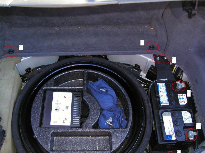 How do you replace the electronics Battery 2004 SL600 (R230