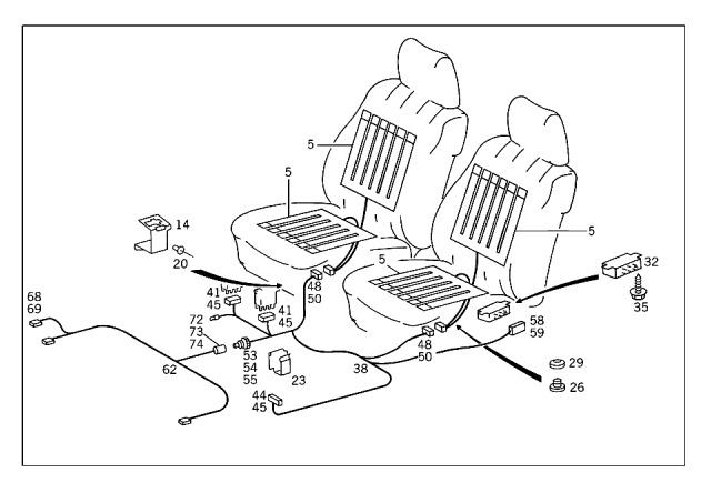 WTB: w124 or w201 heated seat elements, wiring harness, relay ... Heated Seats Relay Wiring on heated steering wheel schematic, sunroof relay, 2004 silverado seat heater relay, bluetooth relay, 96 vw golf gl headlight relay,
