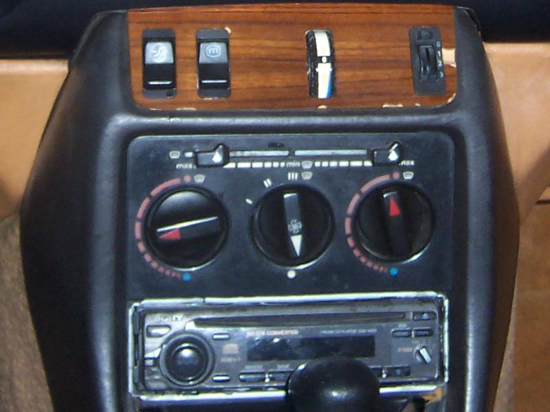 w123 manual climate control