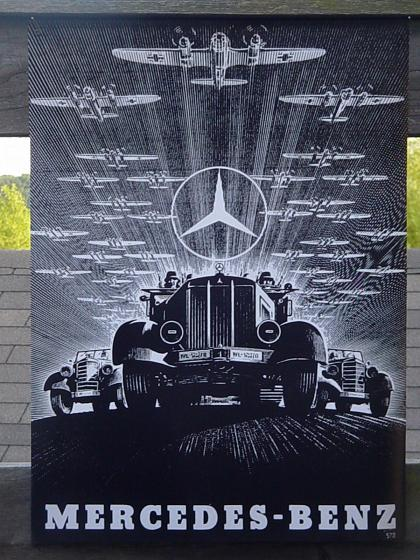Vintage mercedes poster 1943 repro look peachparts for Mercedes benz poster