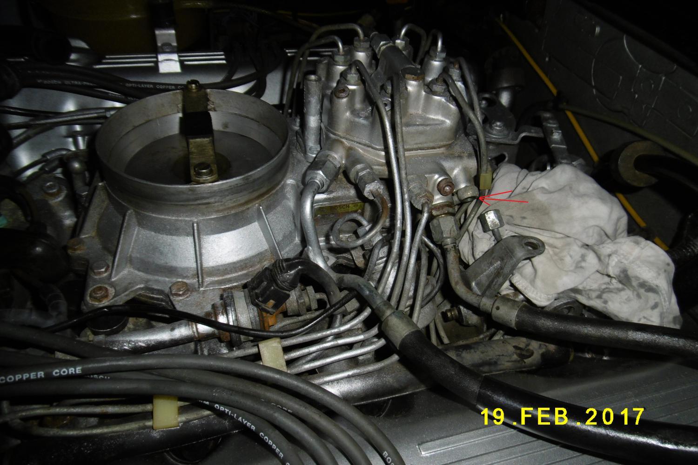1982 380sl Mercedes Benz Fuel Distributor Broke A Fitting