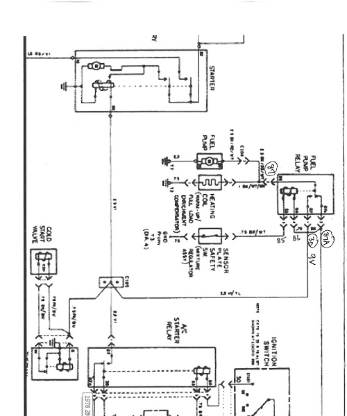 1978 280sl fuel pump relay  u0026 wiring info