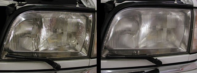 W140 Headlight Lense Cover Removal