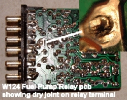 D Fuel Pump Relay Dry Joint Photo W Fpr Dryjoint on Mercedes 190e Fuel Pump Relay Location