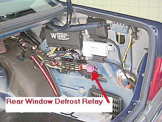 D Where Rear Window Defog Relay S Window Relay on Mercedes 190e Fuel Pump Relay Location