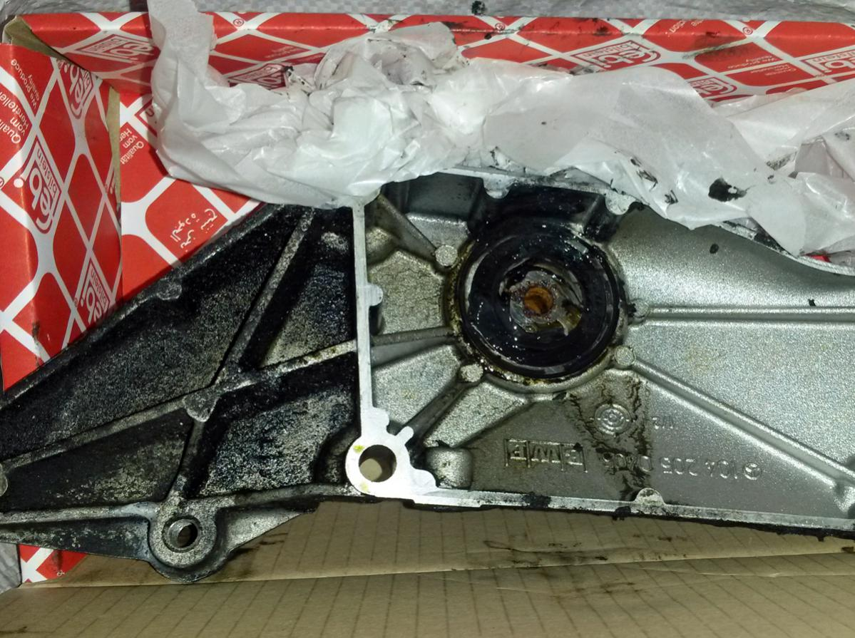 M104 Fan Pulley Bracket Replacement - PeachParts Mercedes
