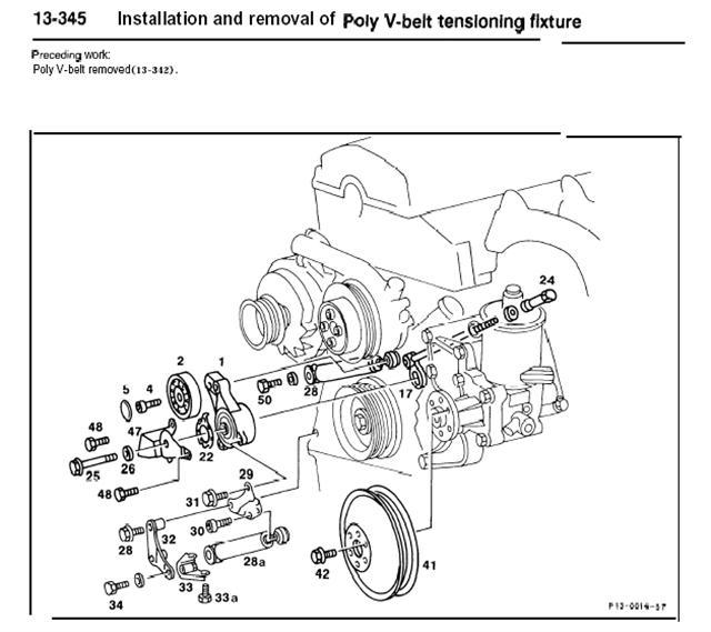 belt tensioner m102 982 engine