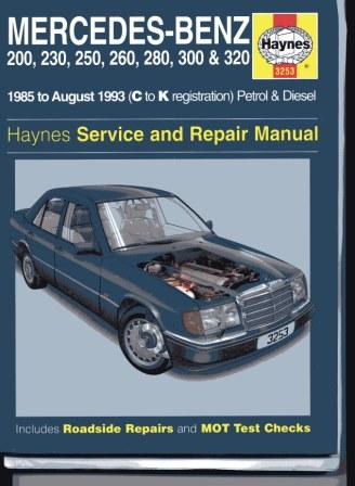 User manual for mercedes w124 for Mercedes benz w124 230e workshop manual