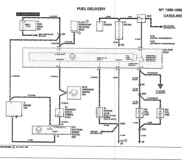 Wiring Diagram Mercedes Fuel Pump Relay