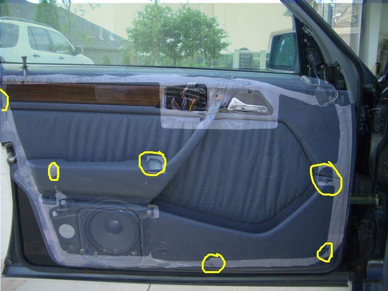 94 w124 door panel removal door check replacement map pocket fix diy peachparts mercedes. Black Bedroom Furniture Sets. Home Design Ideas